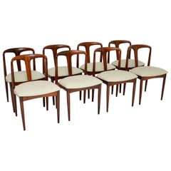 Set of 8 Danish Rosewood Julianne Dining Chairs by Johannes Andersen