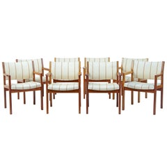 Set of 8 Danish Teak Armchairs by Christian Hvidt for Soborg Modelfabrik