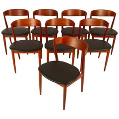 Danish Teak Dining Chairs by H. W. Klein for Bramin 1960s, Set of 8