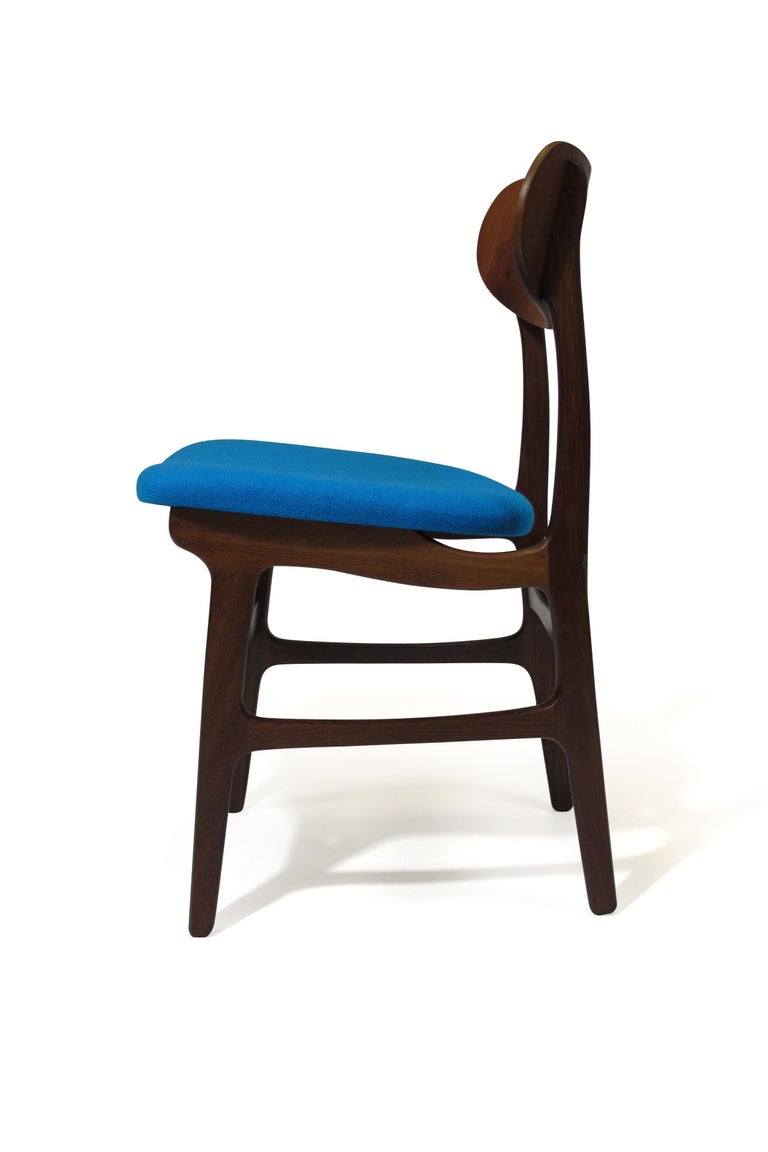 Oiled Set of 8 Danish Teak Dining Chairs For Sale