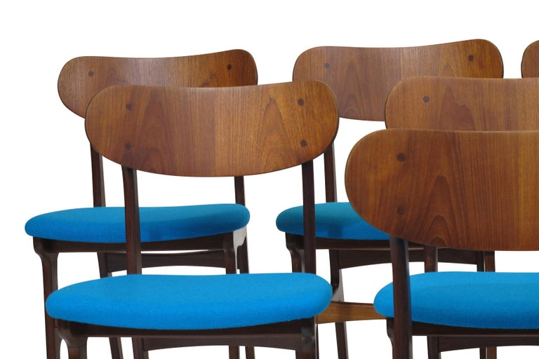 Set of 8 Danish Teak Dining Chairs For Sale 2