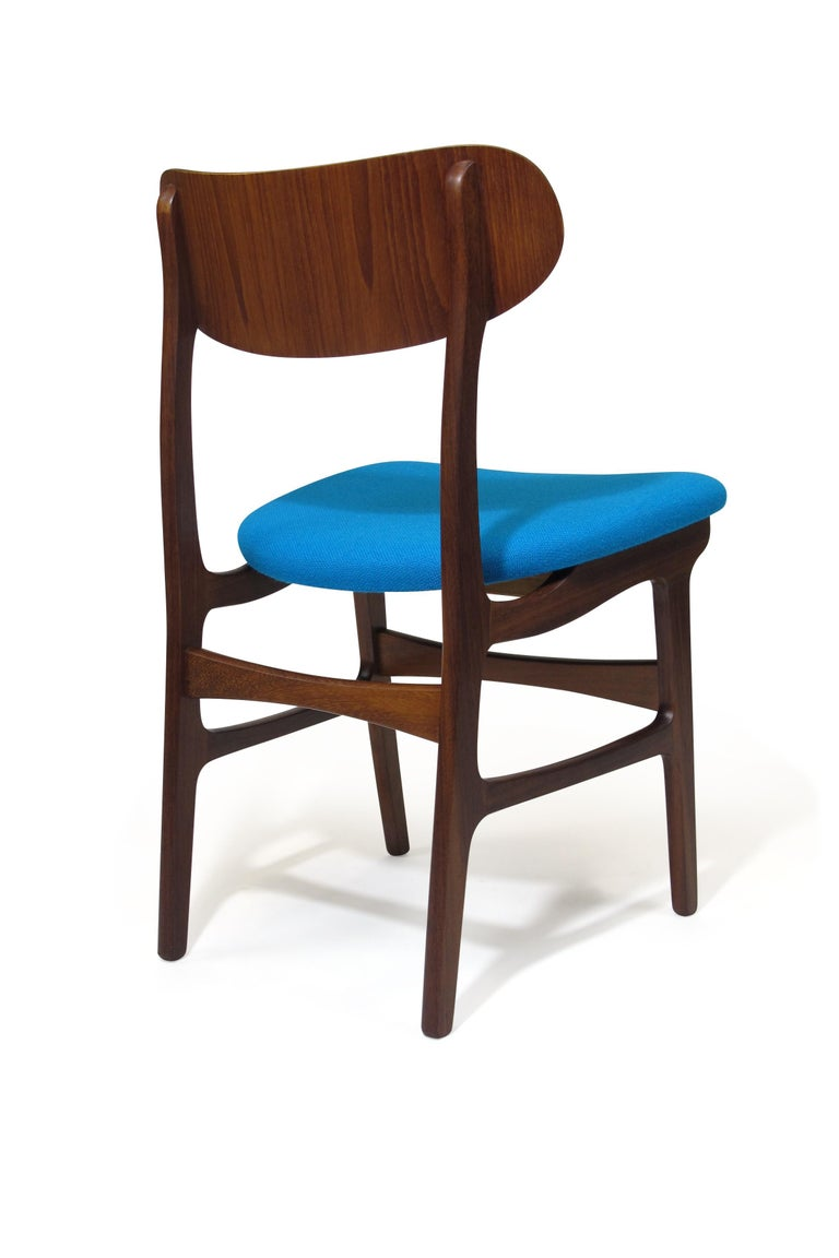 Set of 8 Danish Teak Dining Chairs For Sale 3