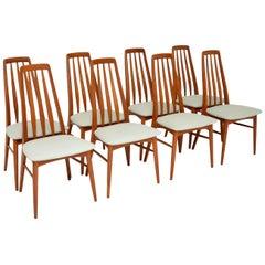 Set of 8 Danish Teak Vintage Dining Chairs by Nil Kofoed
