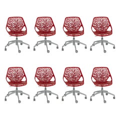 Set of 8 Desk and or Conference Chairs by Marcello Ziliani
