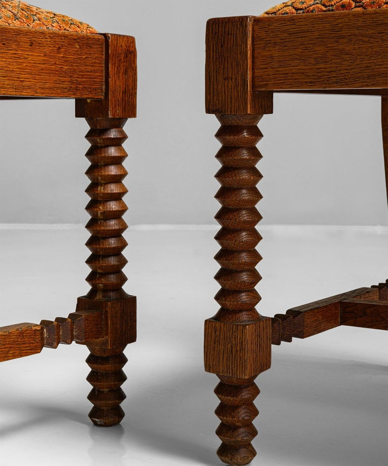 Set of '8' Dining Chairs Attributed to Charles Dudouyt, France, circa 1930 In Good Condition In Culver City, CA