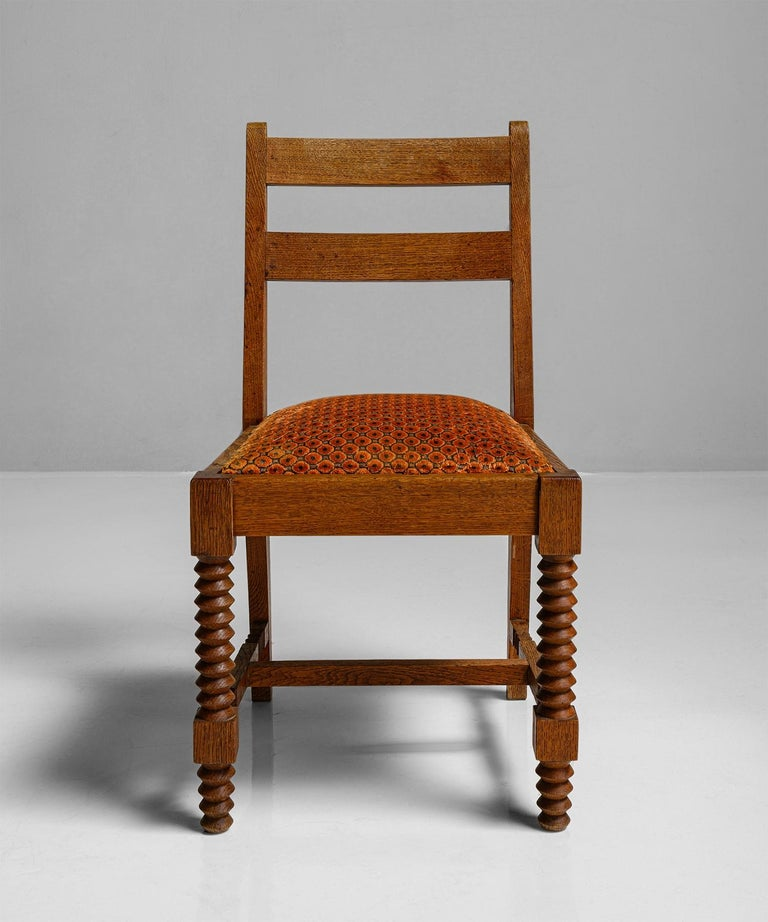 Set of '8' Dining Chairs Attributed to Charles Dudouyt, France, circa 1930 1