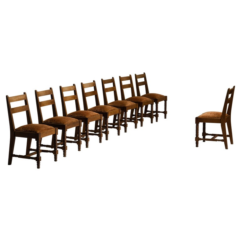Set of '8' Dining Chairs Attributed to Charles Dudouyt, France, circa 1930