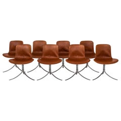 Set of 8 Dining Chairs by Poul Kjærholm