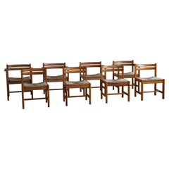 """Set of 8 Dining Chairs, Model """"Asserbo"""" by Børge Mogensen, for AB Karl Andersson"""