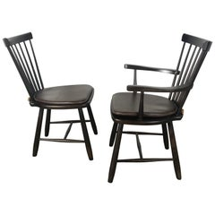 Set of 8 Dining Room Side Chairs Designed by Carl Malmsten for Stolab, Sweden