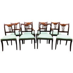 Set of 8 Early 19th Century English Regency Dining Chairs