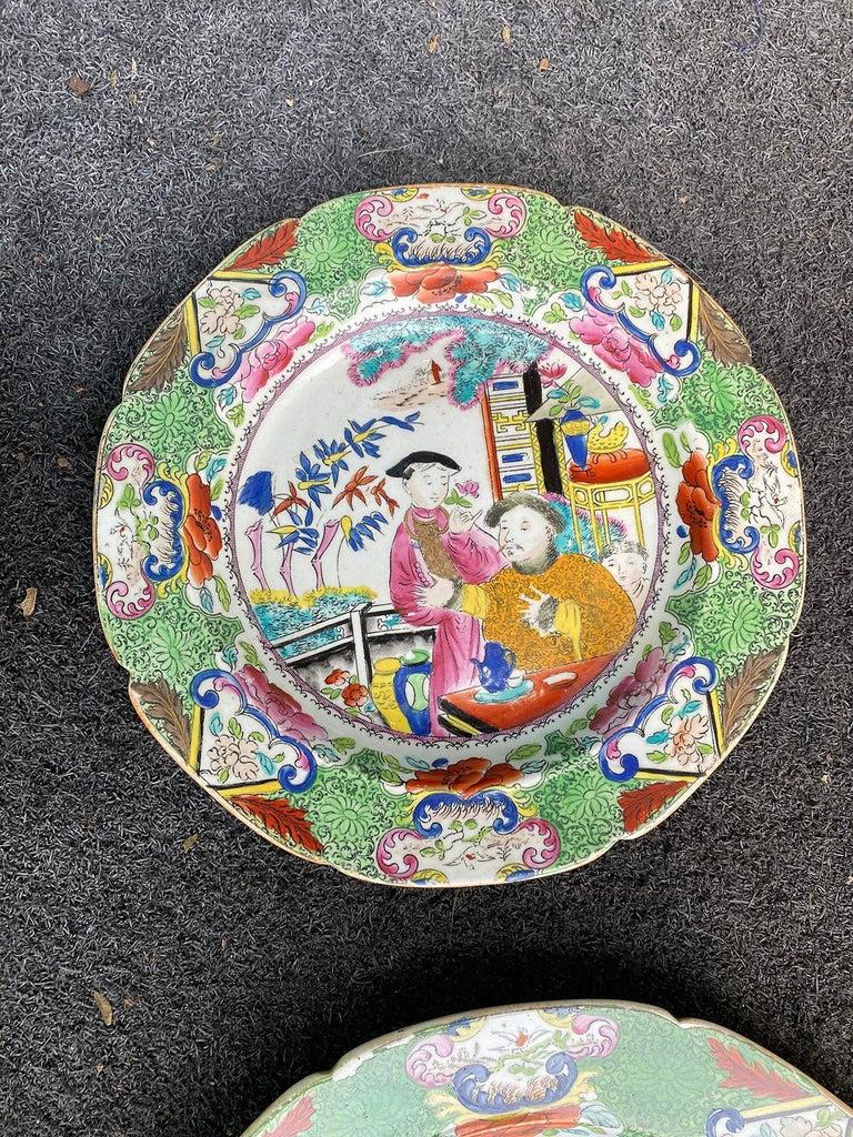 Set of 8 Early 19th Century English Mason's Enameled Ironstone China in Mandarin 6