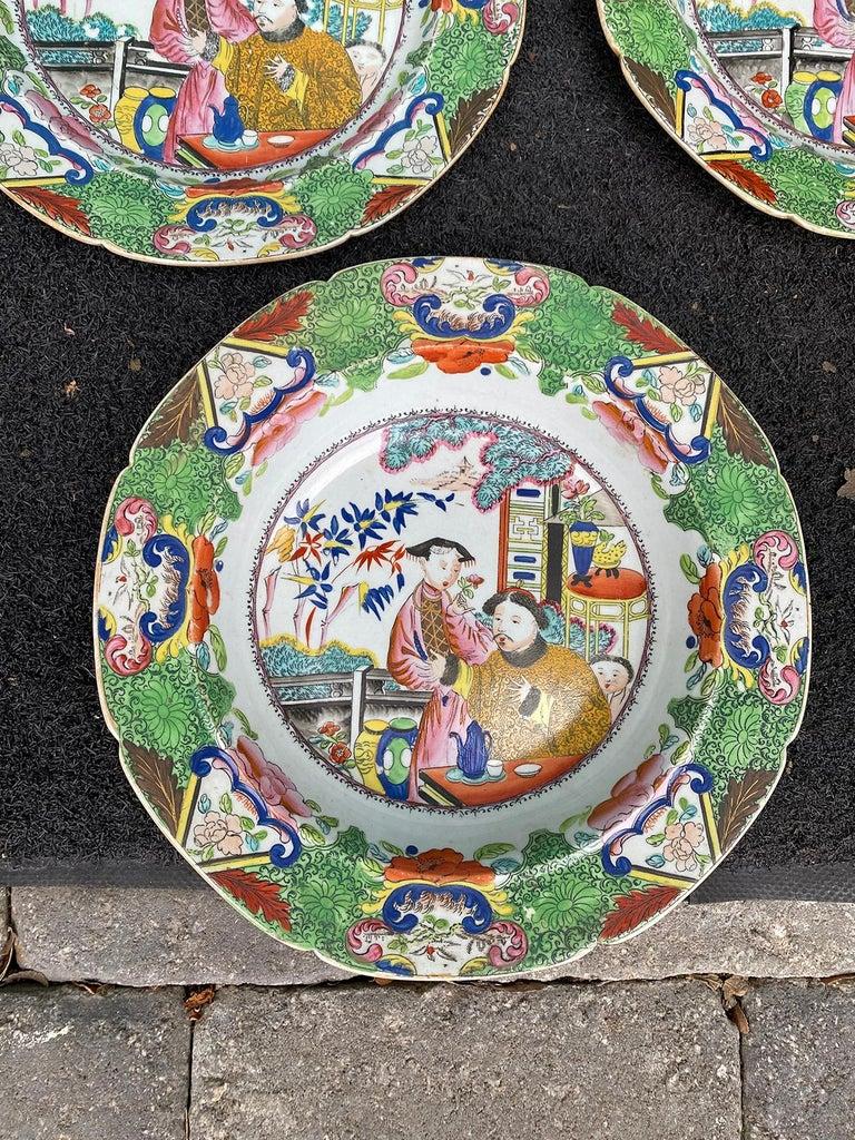 Set of 8 Early 19th Century English Mason's Enameled Ironstone China in Mandarin 10