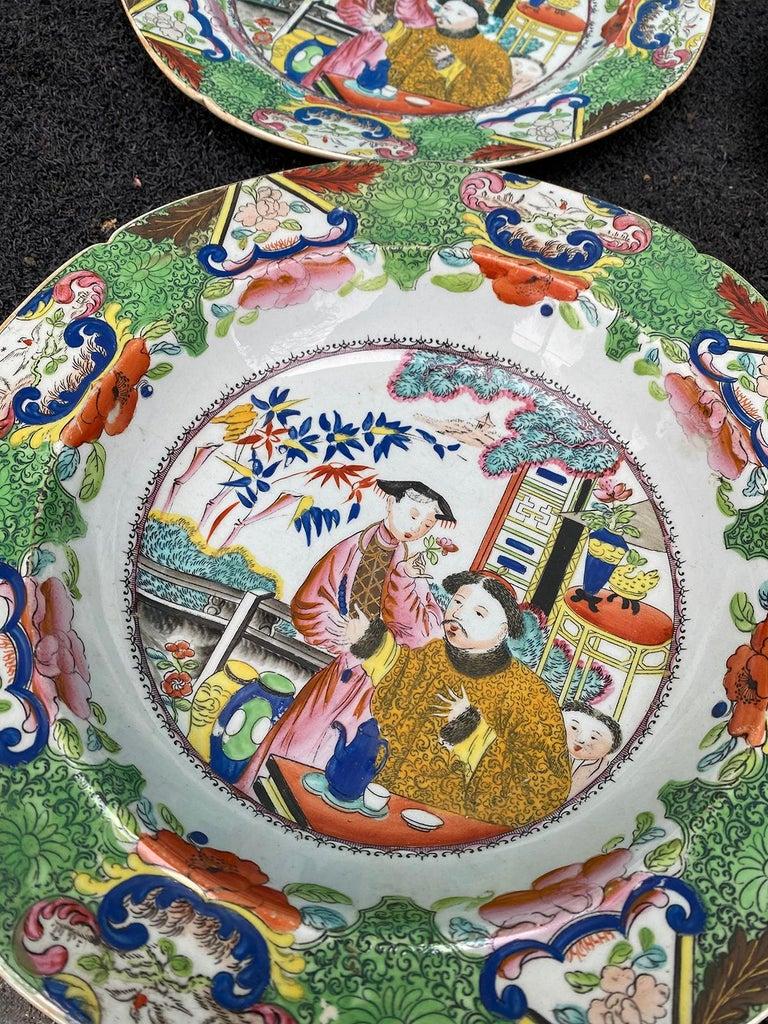 Set of 8 Early 19th Century English Mason's Enameled Ironstone China in Mandarin 12