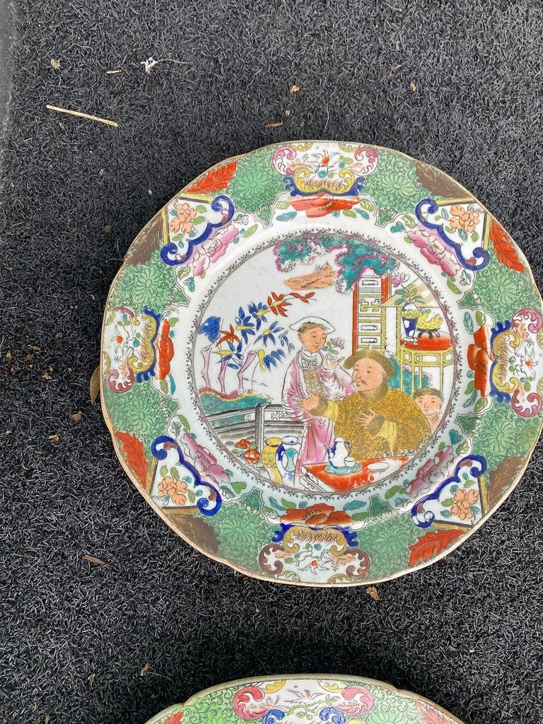 Set of 8 Early 19th Century English Mason's Enameled Ironstone China in Mandarin 4