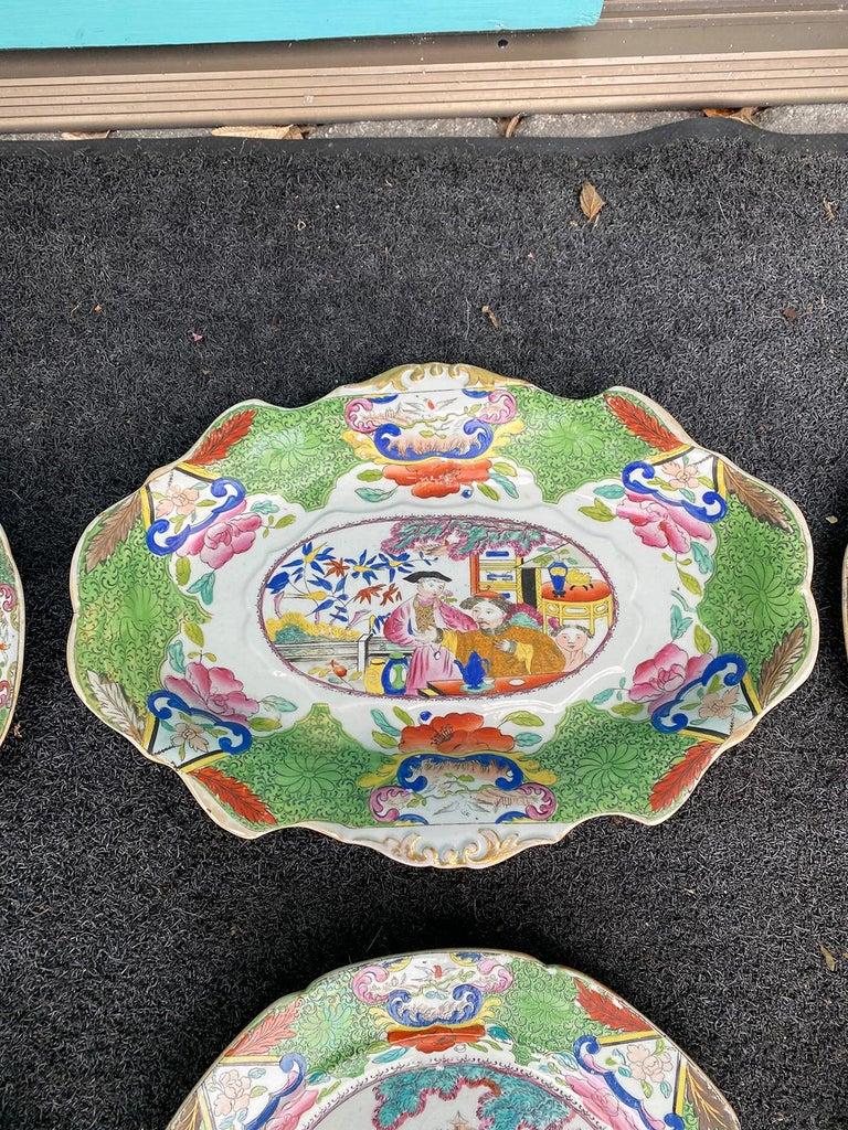 Set of 8 Early 19th Century English Mason's Enameled Ironstone China in Mandarin 5
