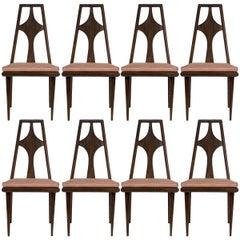 Set of 8 Edmond J. Spence Dining Chairs Scandinavian Mid-Century Modern, 1960s