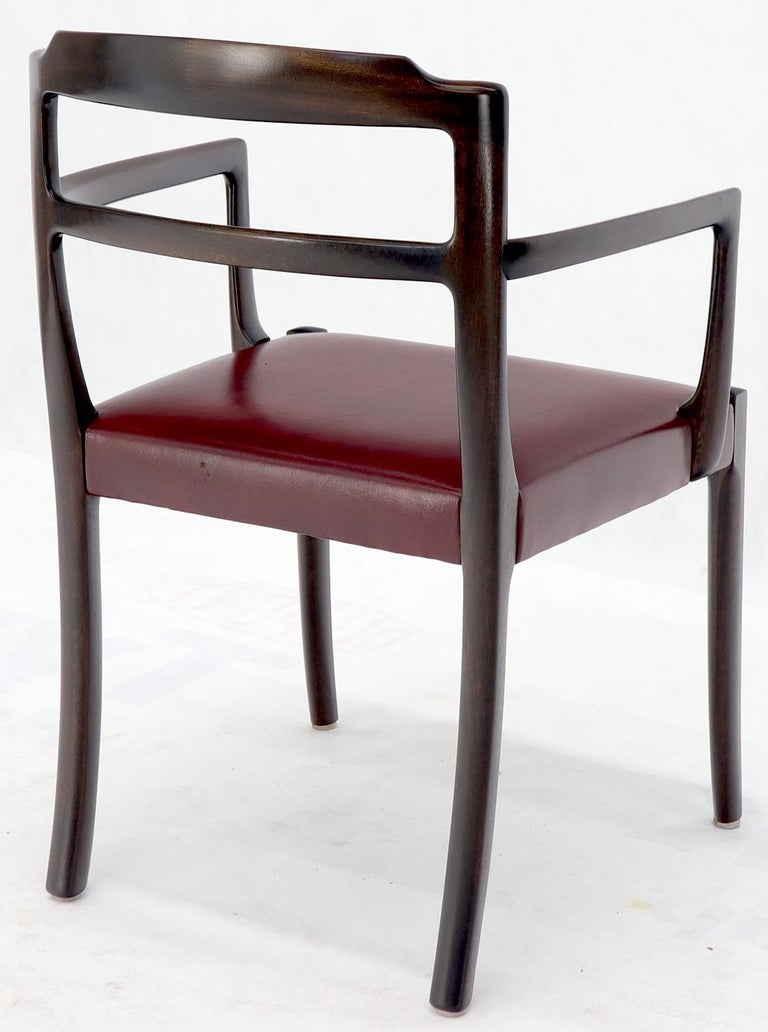 Set of 8 Eight Rosewood Danish Mid-Century Modern Dining Chairs with Arms For Sale 6
