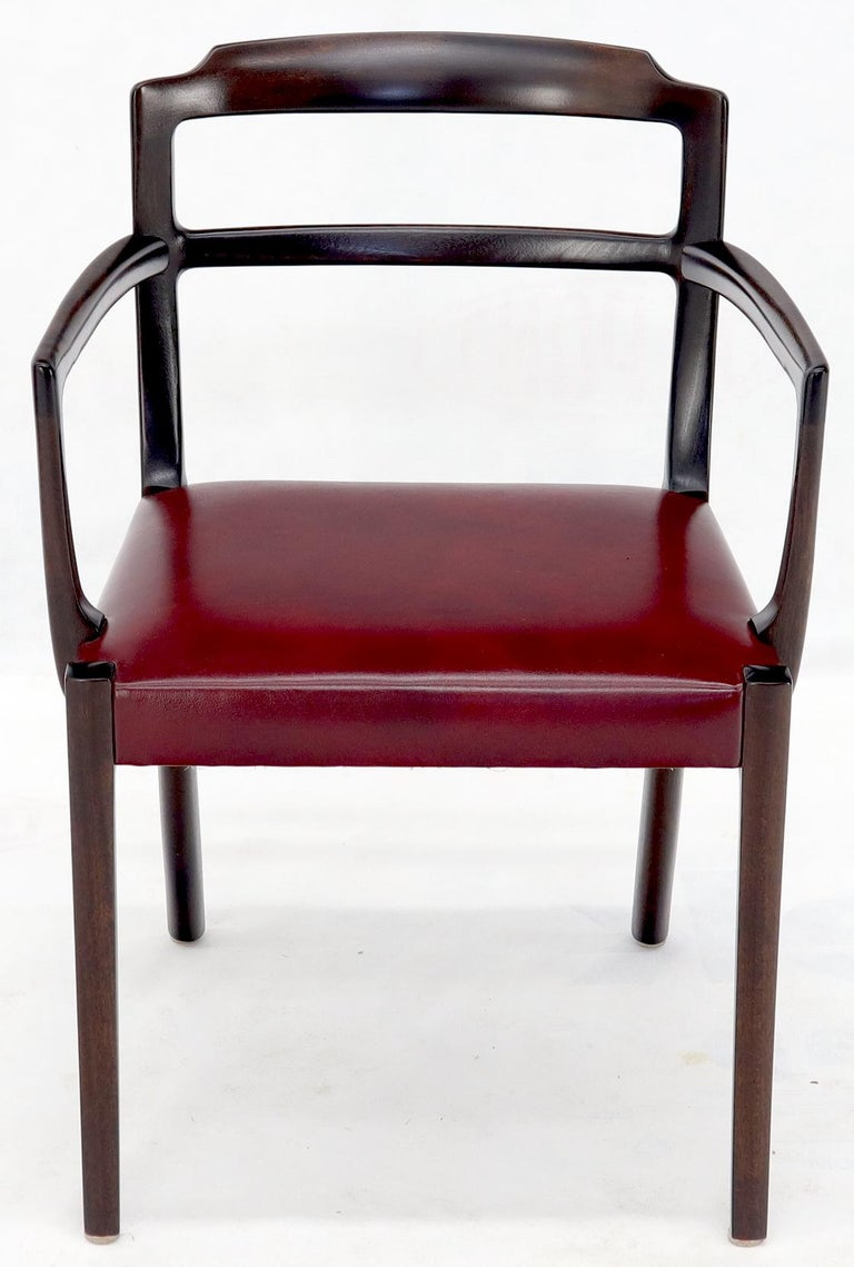 Set of 8 Eight Rosewood Danish Mid-Century Modern Dining Chairs with Arms For Sale 9