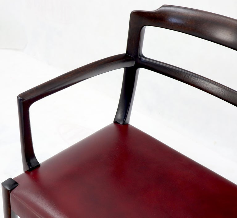 Set of 8 Eight Rosewood Danish Mid-Century Modern Dining Chairs with Arms For Sale 10