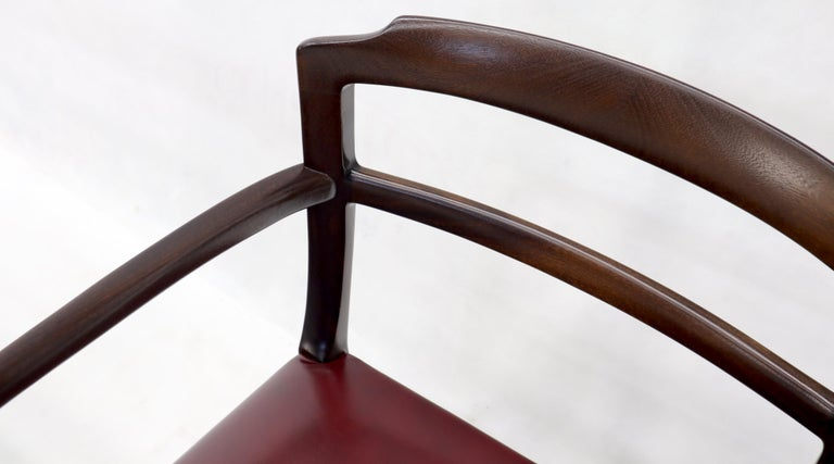 Set of 8 Eight Rosewood Danish Mid-Century Modern Dining Chairs with Arms For Sale 1