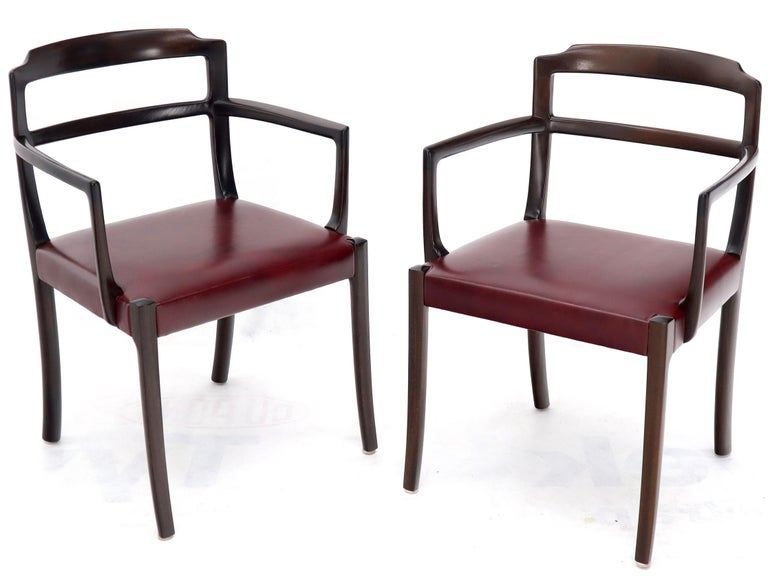 Set of 8 Eight Rosewood Danish Mid-Century Modern Dining Chairs with Arms For Sale 3