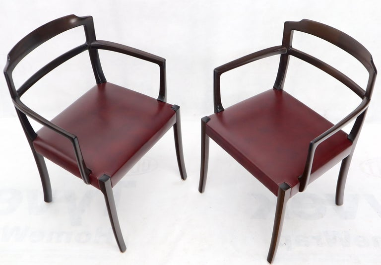 Set of 8 Eight Rosewood Danish Mid-Century Modern Dining Chairs with Arms For Sale 4