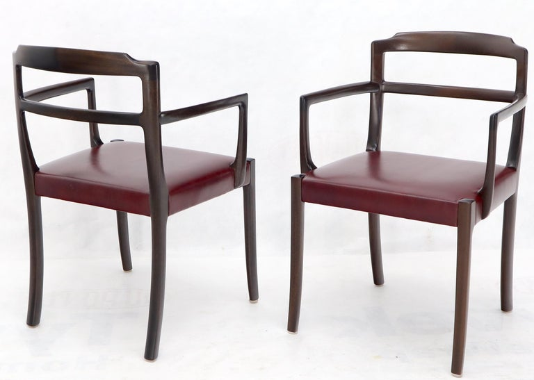 Set of 8 Eight Rosewood Danish Mid-Century Modern Dining Chairs with Arms For Sale 5