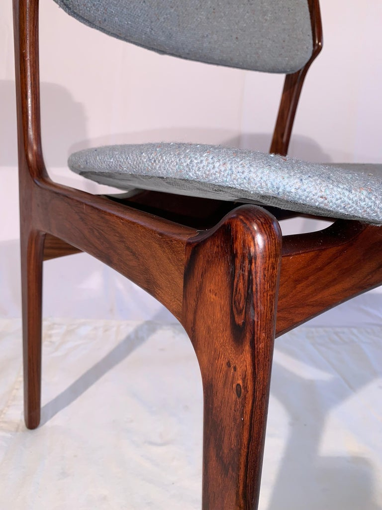 Set of 8 Erik Buch Rosewood Dining Chairs Denmark For Sale 3