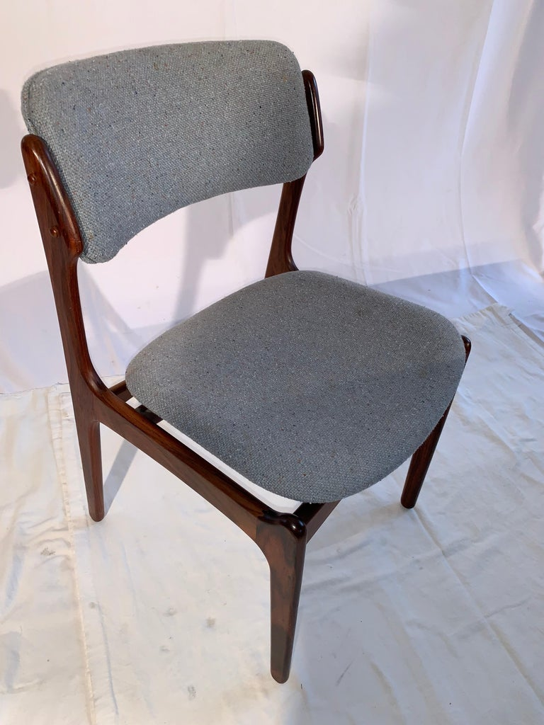 Set of 8 Erik Buch Rosewood Dining Chairs Denmark For Sale 4