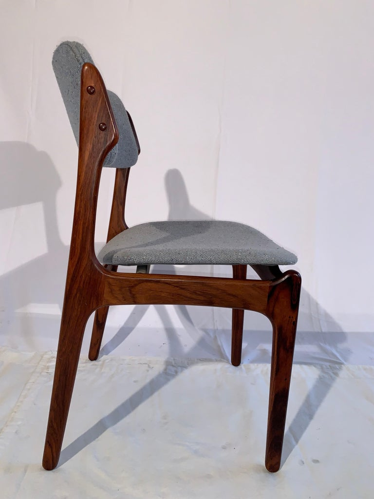 Set Of 8 Erik Buch Rosewood Dining Chairs Denmark At 1stdibs
