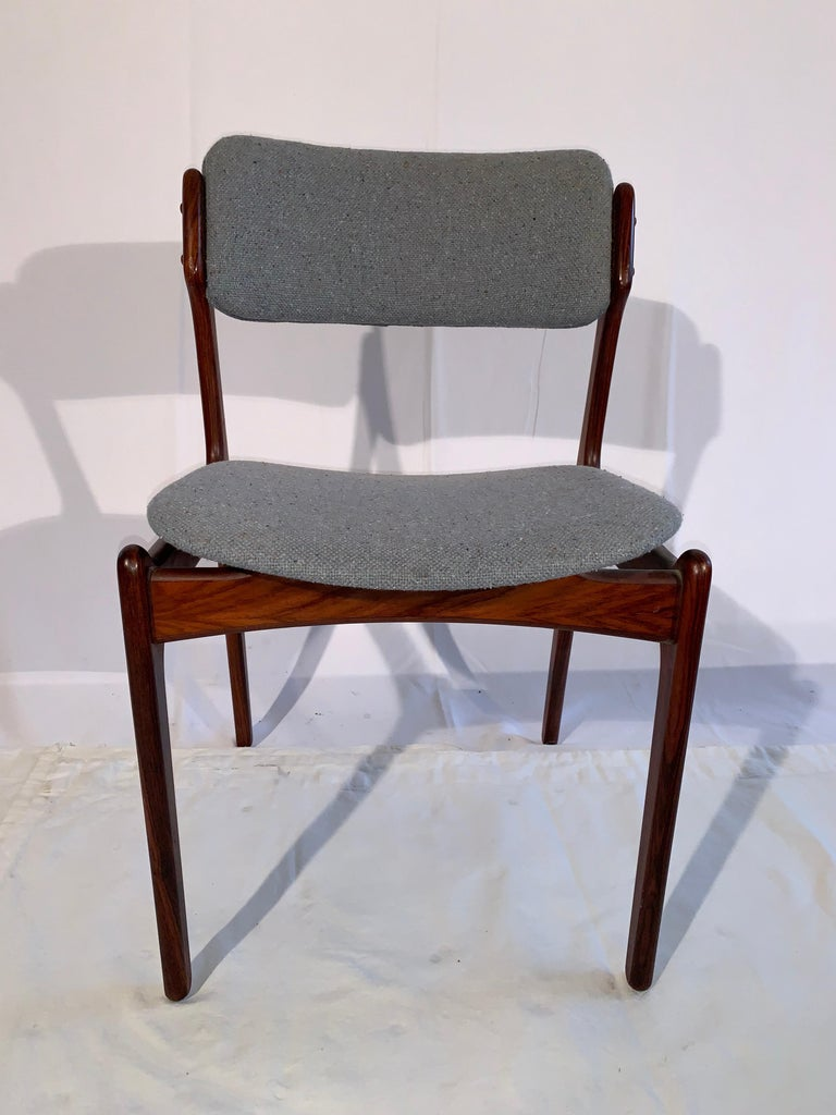 Mid-Century Modern Set of 8 Erik Buch Rosewood Dining Chairs Denmark For Sale