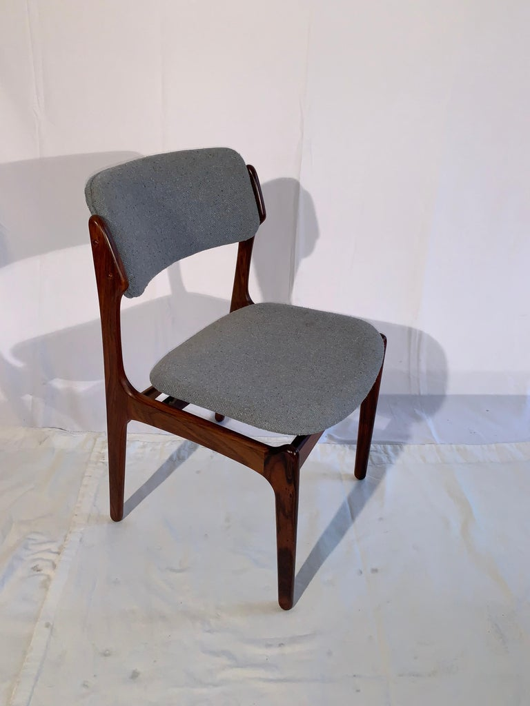 Danish Set of 8 Erik Buch Rosewood Dining Chairs Denmark For Sale