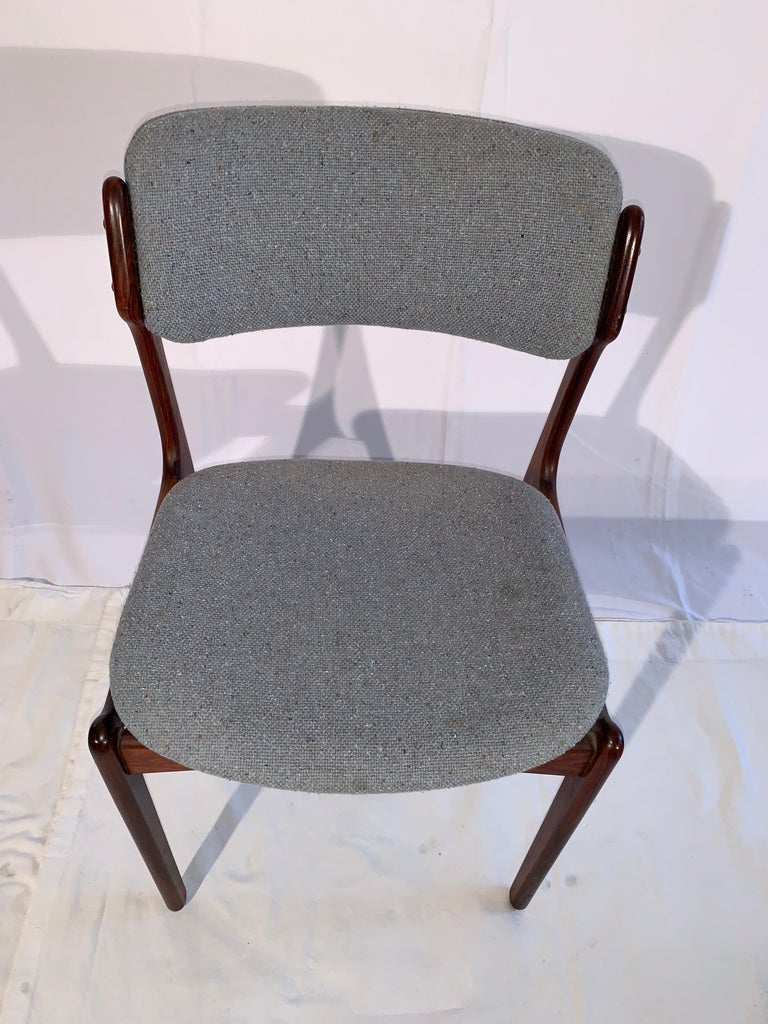 Set of 8 Erik Buch Rosewood Dining Chairs Denmark In Good Condition For Sale In Canaan, CT