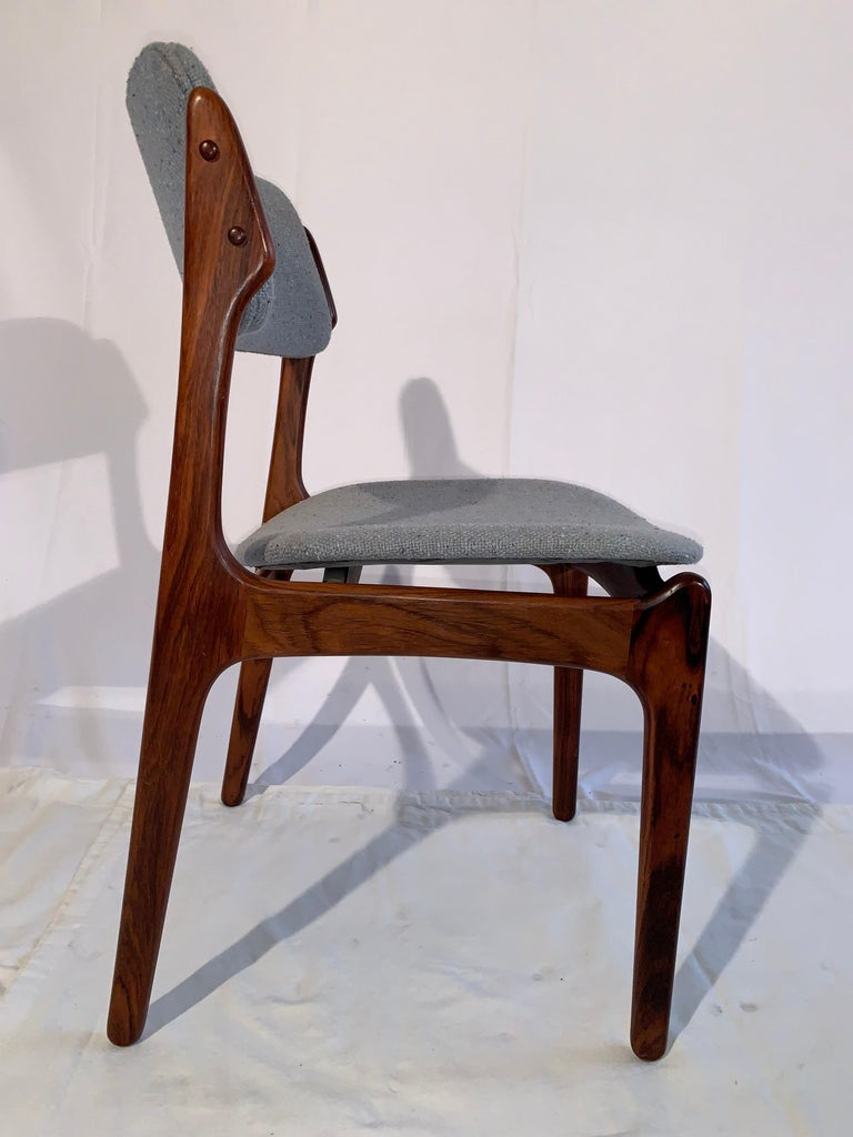 20th Century Set of 8 Erik Buch Rosewood Dining Chairs Denmark For Sale