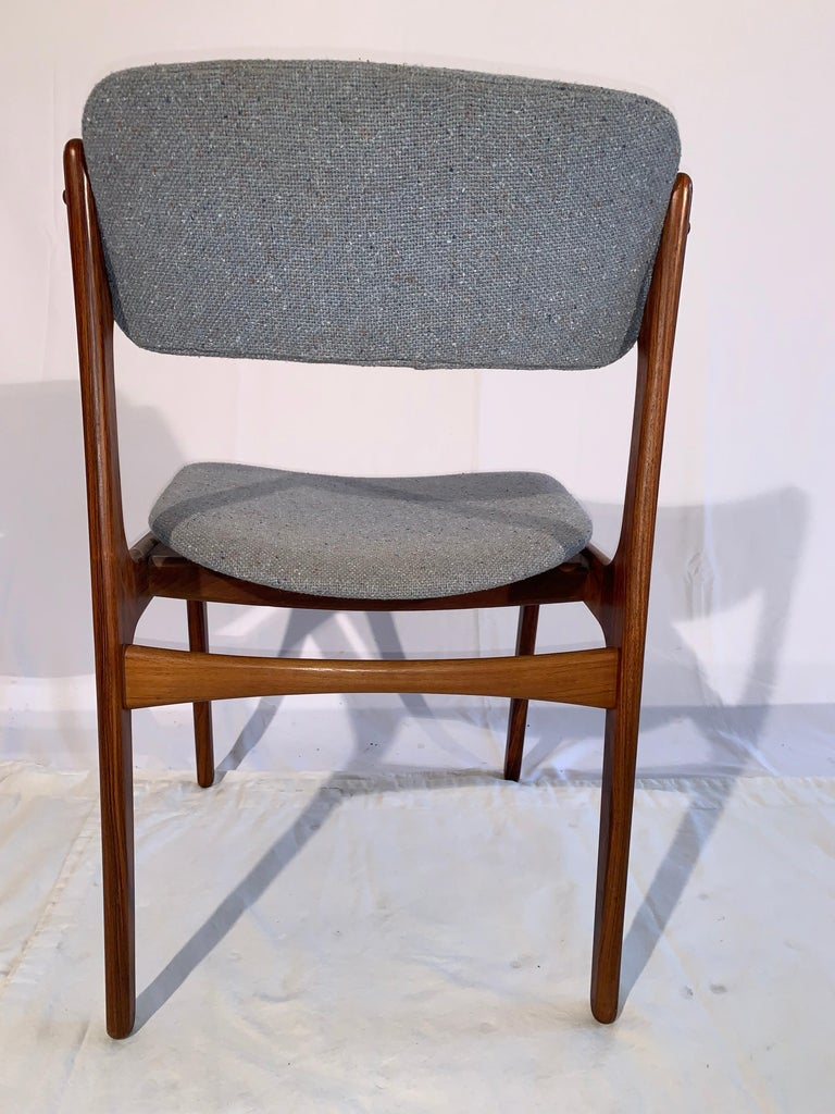 Set of 8 Erik Buch Rosewood Dining Chairs Denmark For Sale 1