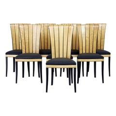 Set of 8 Finnish Cranbrook Dining Chairs by Eliel Saarinen