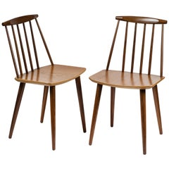 Set of 8 Folke Palsson for FDB Mobler Midcentury Dining Chairs