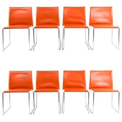Set of 8 Franco Bizzozero for Enrico Pellizzoni Chairs