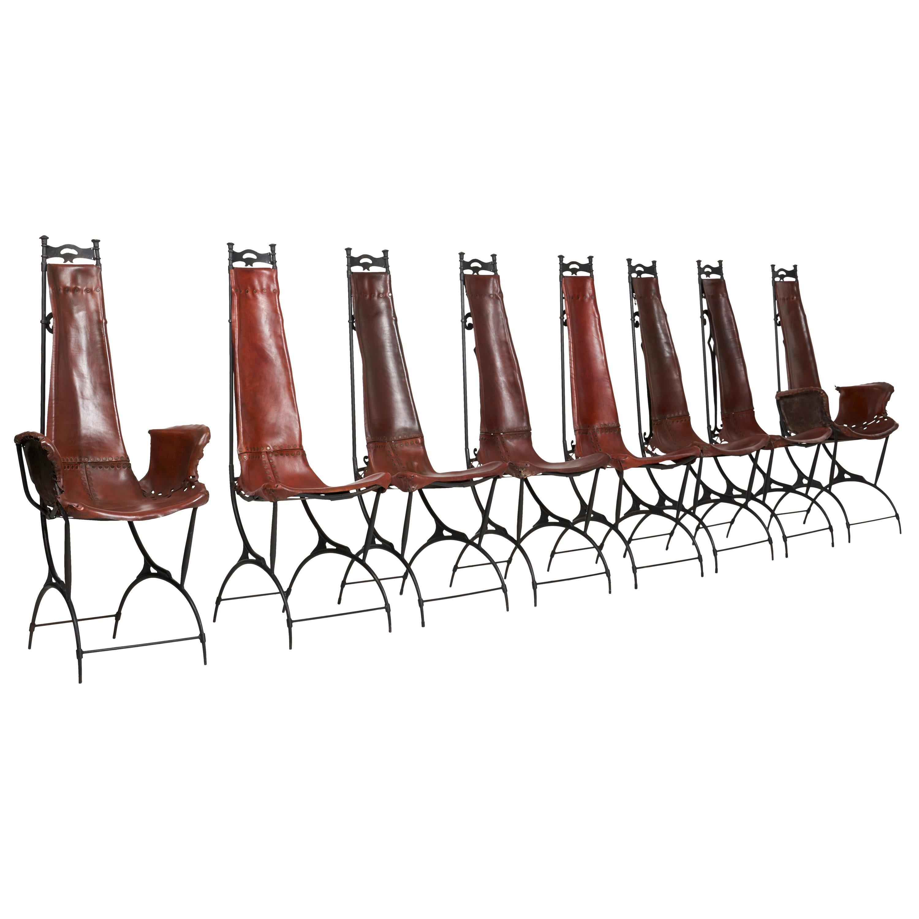 Set of 8 Francois and Sido Thevenin Dining Chairs