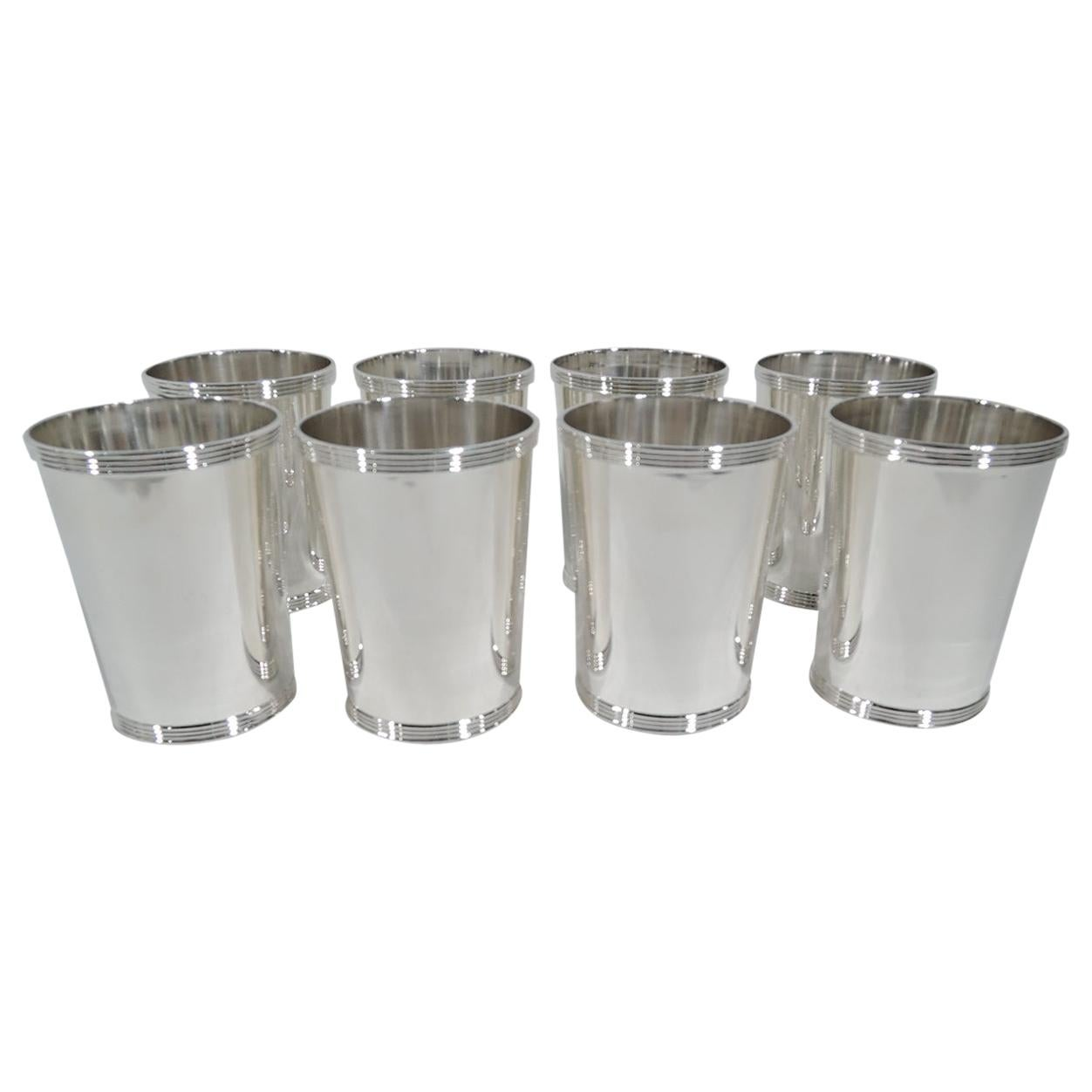 Set of 8 Frank Whiting Old Kentucky Sterling Silver Mint Juleps