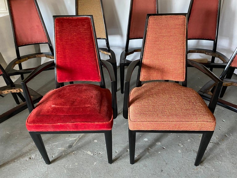 Set of 8 French Art Deco Dining Chairs For Sale 5