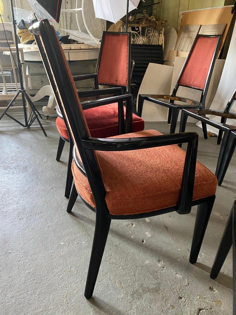 Mid-20th Century Set of 8 French Art Deco Dining Chairs For Sale