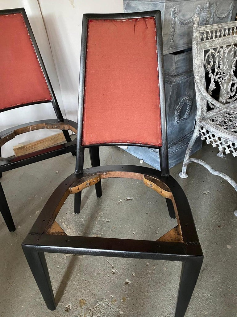 Set of 8 French Art Deco Dining Chairs For Sale 2