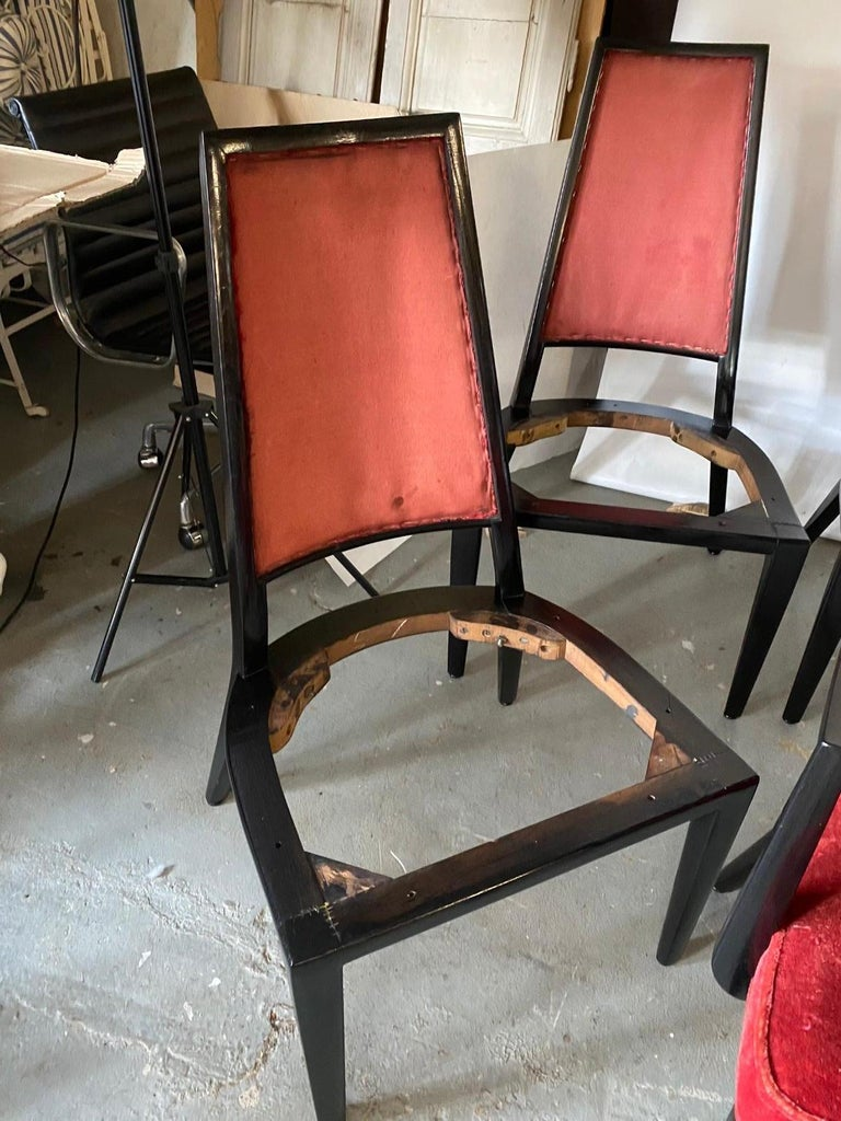 Set of 8 French Art Deco Dining Chairs For Sale 3