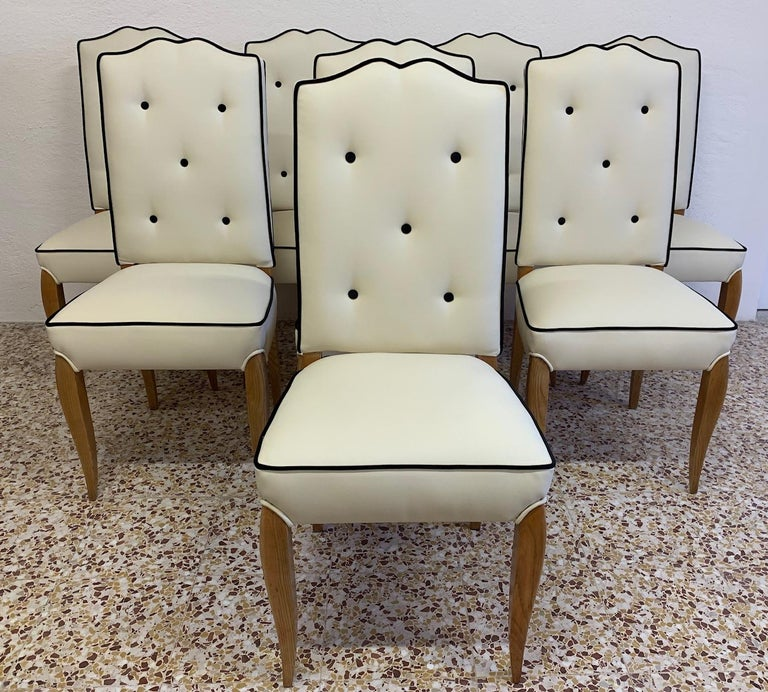 This set of 8 Art Deco chairs were produced in France in the 1930s.