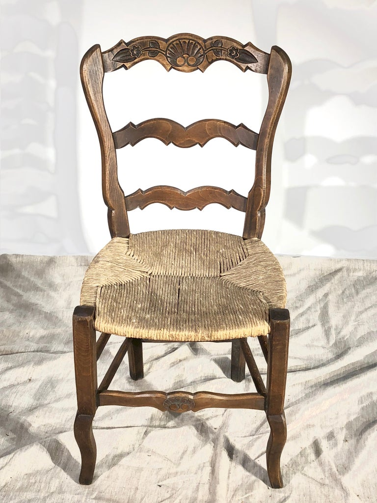 Set of 8 French Country Dining Chairs 9