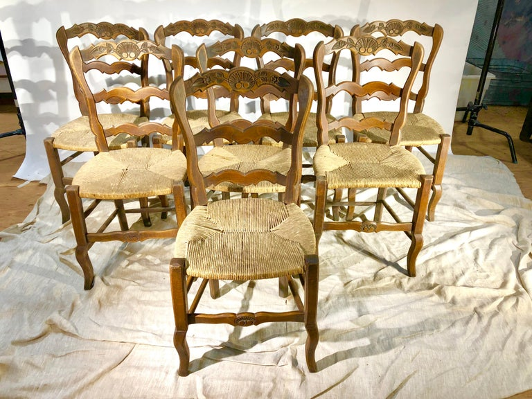 Set of 8 French Country Dining Chairs 11