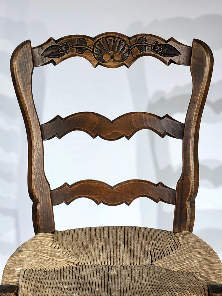 French Provincial Set of 8 French Country Dining Chairs