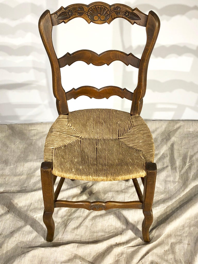 Walnut Set of 8 French Country Dining Chairs